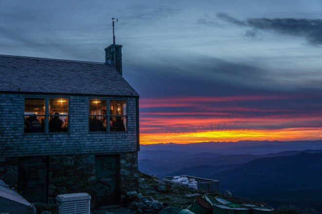 Sunset at Lakes of the clouds, NH