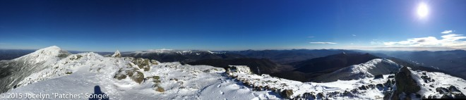 Standing on the AT in the middle of Franconia Ridge.