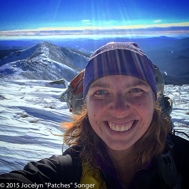 Obligatory summit selfie with Franconia Ridge in the background. Hello AT!