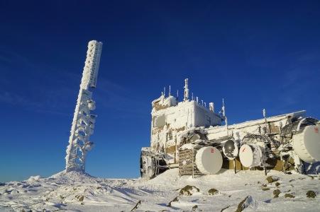 Weather station at the summit of Mt. Washington.