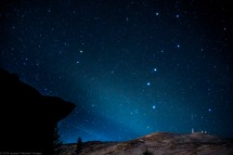 The Big Dipper rising above the summit of Mt. Washington.